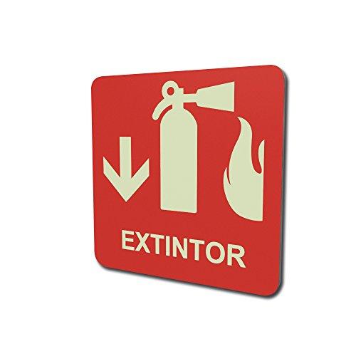 Extintor fotoluminicente 15x15cm