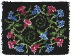 - Caron Wonderart Latch Hook Kit 15 Inch X20 Inch - Floral Charm