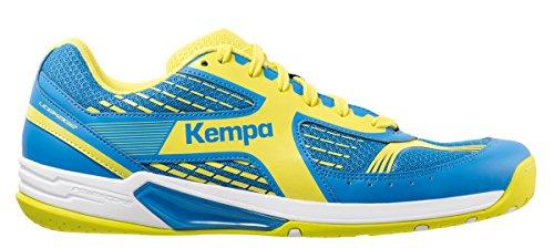Kempa Wing, Zapatillas de Balonmano Unisex Adulto Azul (Bleu Cendré/jaune Spring)