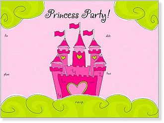 SanLori Designs Mi Castle, Su Castle Invitations - 8 ct