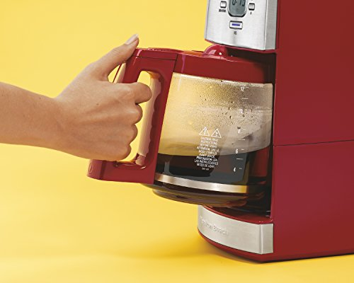 Hamilton Beach 12-Cup Coffee Maker with Glass Carafe, Ensemble Red (43253RA) New