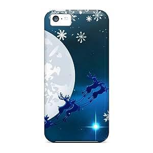 Snap-on Case Designed For Iphone 5c- Santa Blue Sky