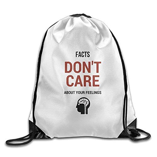 (AOOPK Gym Facts Don't Care About Your Feelings Drawstring Backpack)