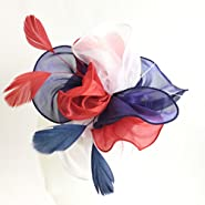 Mycharm Fascinators Hat for Women Wedding Feather Flower heandbands Party Derby Headbands Clip Tea Party Headwear