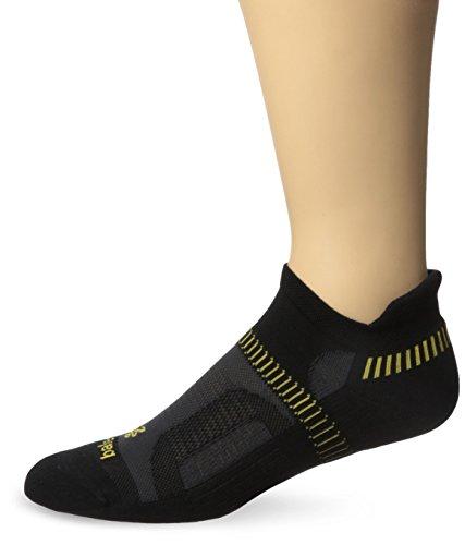 Balega Hidden Contour Socks, Black/Yellow, Small