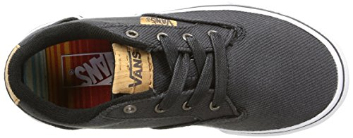 Vans Winston, Zapatillas Niños Negro (washed Twill/black/blanket)