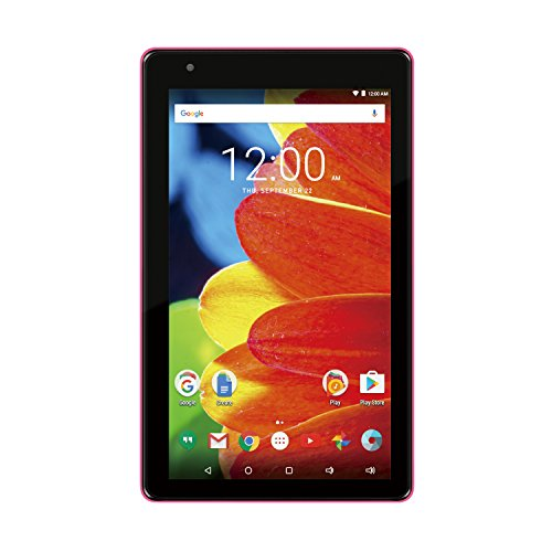 2017 Newest Premium High Performance RCA Voyager 7″ 16GB Touchscreen Tablet Computer Quad-Core 1.2Ghz Processor 1G Memory 16GB Hard Drive Webcam WiFi Bluetooth Android 6.0-Pink
