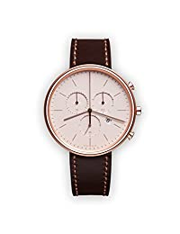UNIFORM WARES M40 Swiss Quartz Stainless Steel and Brown Leather Watch