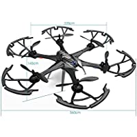 Owill i7H 2.4GHz 6CH 6 Axis Gyro RC Quadcopter Air Press Altitude Hold Aircraft/Long Control Distance (Black)