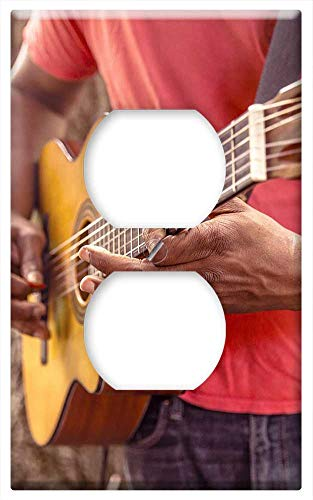 (Switch Plate Outlet Cover - Guitar Music Man Play Strum Chord Acoustic)
