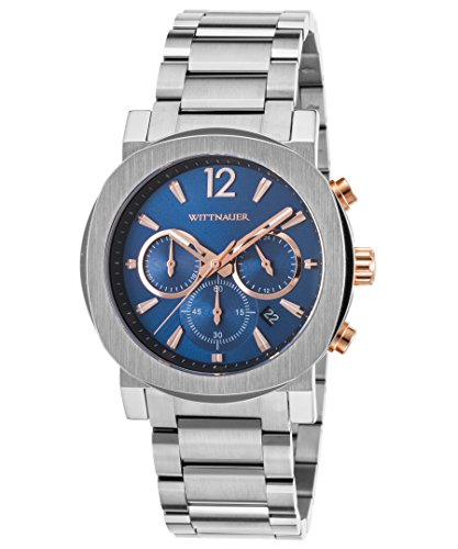 Wittnauer Aiden Blue Dial Stainless Steel Men's Watch, used for sale  Delivered anywhere in USA