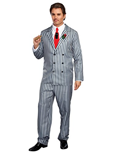 Mr Grey Costume (Mr Fright Adult Costume - XX-Large)