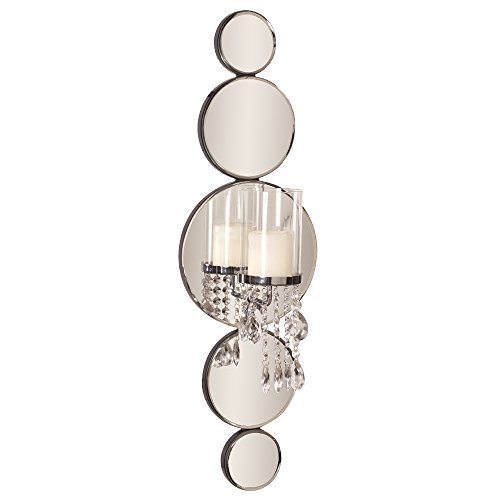 Howard Elliott Mirrored Wall Sconce Accent Piece, 31 x 10 Inch, 99042 (Candle Sconces Contemporary)