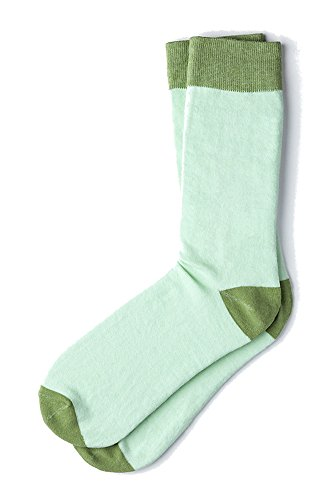 Men's Classic Hollywood Luxury Solid Hipster Crew Dress Socks (Celadon Green)