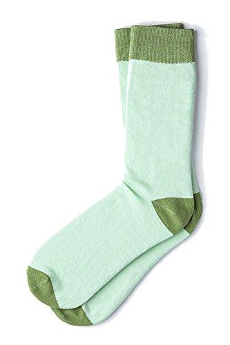 Men's Classic Hollywood Luxury Solid Hipster Crew Dress Socks (Celadon (Celadon Green)