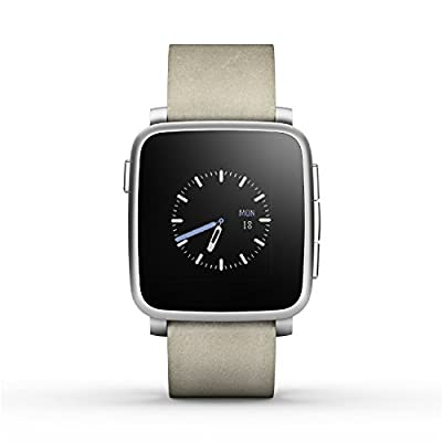 Pebble Time Steel Smartwatch for Apple/Android Devices - Gold (Certified Refurbished)