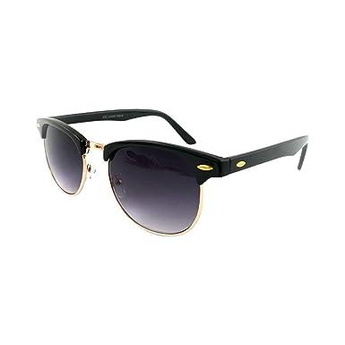 2c70f7bf223 Sunglasses Men s Ladies Retro Vintage Style UV400 Protection Black   Gold  Frame with Black Lens