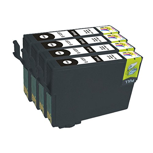 Ink & Toner Geek ® 4 Pack Remanufactured Replacement Inkjet Cartridges for Epson T125 #125 (T125120) Black For Use With Epson Stylus NX125 Stylus NX127 Stylus NX130 Stylus NX230 Stylus NX420 Stylus NX530 Stylus NX625, WorkForce 320 WorkForce 323