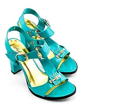 Adora Blue Heel Sandal For Women