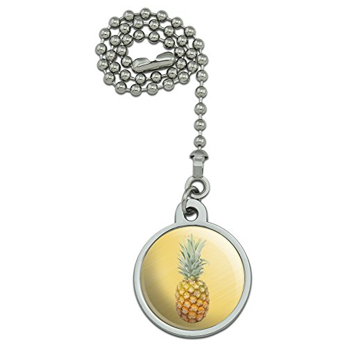 Pineapple Fruit on Yellow Tropical Background Ceiling Fan and Light Pull Chain (Pineapple Light Fan Ceiling)