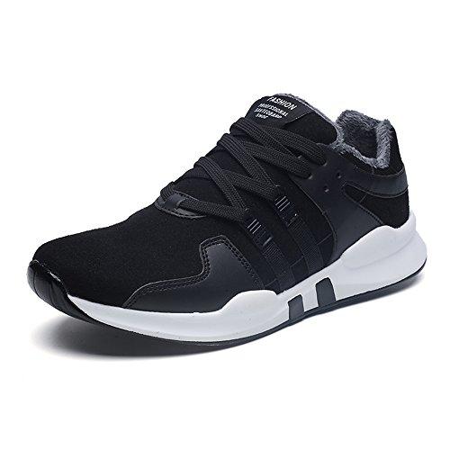 Men's Shoes Feifei Winter Outdoor Movement Keep Warm Running Shoes 3 Colors (Color : 01, Size : EU43/UK9/CN44)