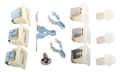 279570 Dryer Door Latch Strike Kit for Whirlpool Kenmore Maytag AP3094183 PS334230 279570 3392538 3398175 14205029 14205577 236876 236877 241282 241286 241890 261847 263067 Dryer Door Latch Kit