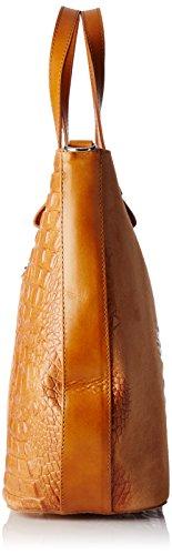 W 80046 Chicca Borse Donna a 1 Tracolla x Cuoio 40x33x14 L x cm Borsa Marrone H zFr5q