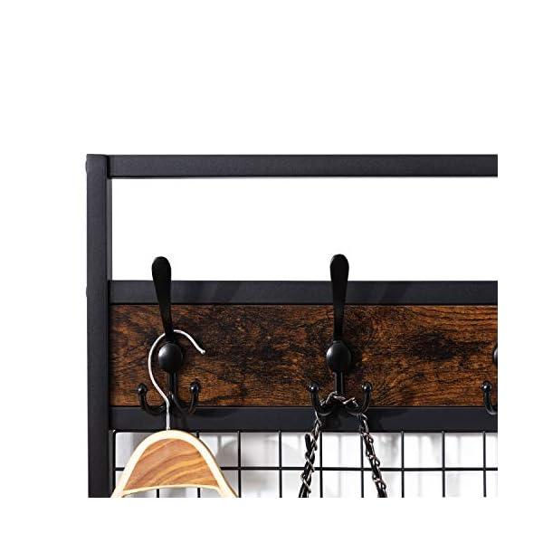 DYHOME Portemanteau,vestiaire entrée, Meuble d'entrée avec Étagère à Chaussures,avec 12 crochets, structure en métal…