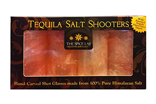 (The Spice Lab Pink Himalayan Salt Tequila Shot Shooters Naturally Anti-Bacterial - Oprah's Favorite Item (4 Pack))