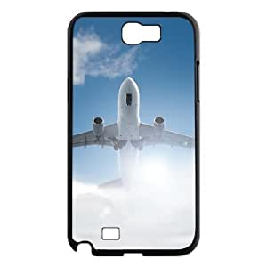 LZHCASE Diy Design Back Case Airplane for Samsung Galaxy Note 2 N7100 [Pattern-1]