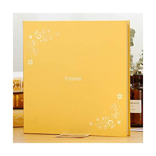 Rainbow-sky-store Album Series DIY Photo Album Paste Type Self Adhesive Laminating Cottage Creative Couples Romantic Book Birthday Souvenir Gift,12inchHappiness