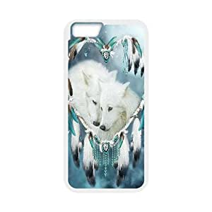"WJHSSB Cover Shell Phone Case Wolf Dream Catcher For iPhone 6 Plus (5.5"")"
