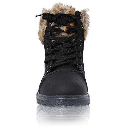 CORE COLLECTION Piel sintética de las mujeres botas de tobillo negro