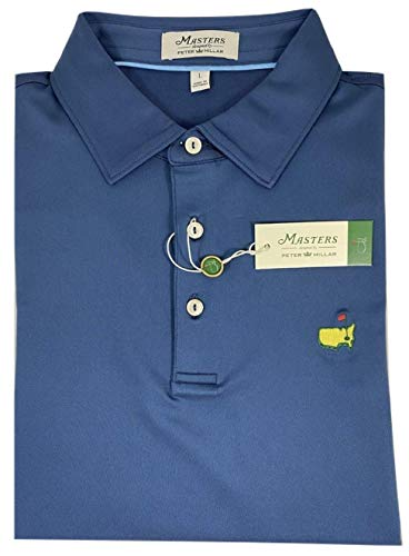 PETER MILLAR 2019 Masters Men's Navy Performance Tech Golf Shirt Polo