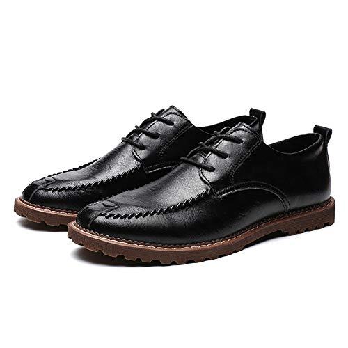 EU Uomo casual casual shoes Xiaojuan Pelle 43 Scarpe Warm da classico stile semplice Black Warm tondo uomo Color Scarpe Oxford Gray Dimensione caldo stile opzionale nuovo xdgwwqYaE