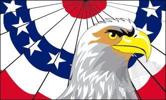 3'x5' PATRIOTIC AMERICAN EAGLE FLAG, America bunting banner