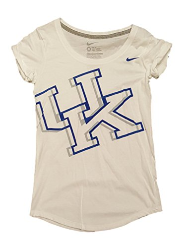 Kentucky Wildcats Nike Slim Fit Women White Cuff Sleeve Scoop Neck T-Shirt (2XL)