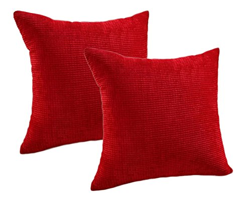 Pack of 2 Throw Pillow Covers (in 8 Colors and 7 Sizes) C...