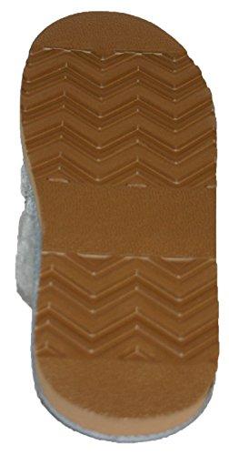 Dunlop - Zapatillas de punto con forro de piel sintética y puños para mujer Beige - beige