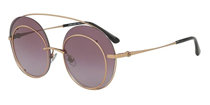 9b3447b93fb26 Amazon.com  GIORGIO ARMANI Sunglasses AR6043 30068H Bronze 59 MM ...