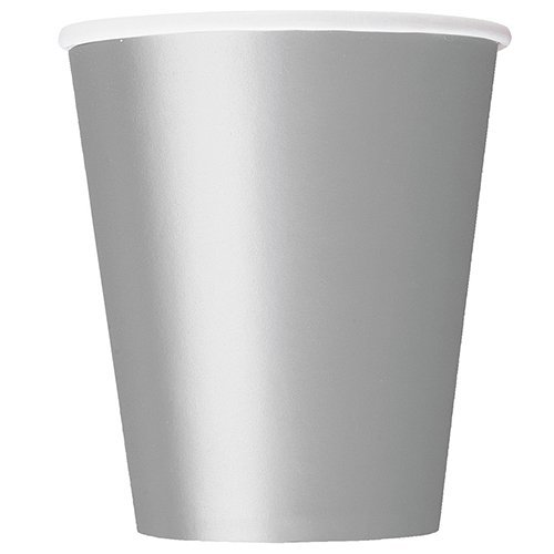 9oz Silver Paper Cups by Unique Party by UNIQUE PARTY