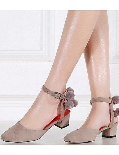 Leather Sandals Heel Shoes Almond Outdoor pom Pom Chunky Black Almond Women's Casual ShangYi Burgundy 0wEqSS