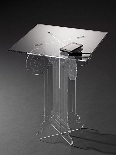 Plexiglass D\'Autore Tavolino Comodino in Plexiglass Stile dorico ...