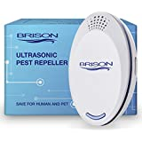 BRISON Ultrasonic Pest Repeller Plug-in Control Electronic Insect Repellent Gets Rid Mosquito Bed Bugs Roach Spiders Fleas Mice Ants Fruit Fl (1-Pack)