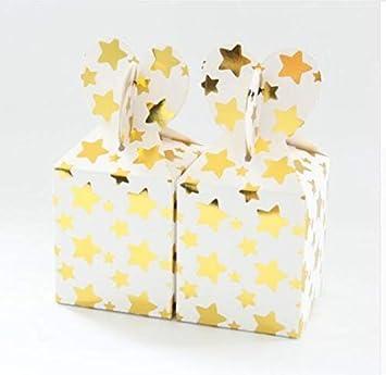 Amazon.com: Bolsas de regalo de papel de estrella dorada ...