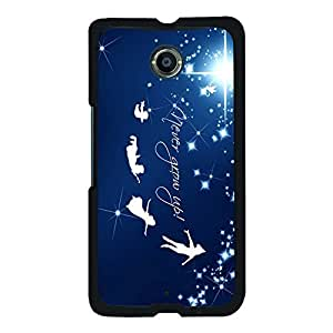 Unique Design(TM) Nexus 6 Case Cover Engineer Disney Cartoon Anime Comics Character Peter Pan Hard Tpu Slim Fit Rubber Hybrid Black Protective Snap on Accessories for Girls