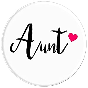 Gift For Best Aunt Ever With Love Heart - PopSockets Grip and Stand for Phones and Tablets