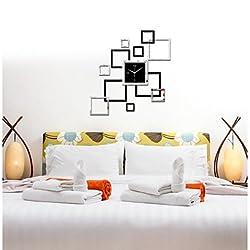 zhENfu Brief DIY Quartz Photo Frame Wall Clock Modern HomeStickers Wall Watches Living Room Wall Clock Poster Wall Clock