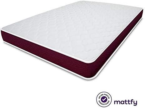 MATTFY- Colchón Viscoelástico Violeta Reversible (colchón a 2 ...