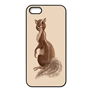 K-G-X Phone case For Apple Iphone 5 5S Cases Case-Pattern-11 Happy Squirrel Pattern Protective Back Case
